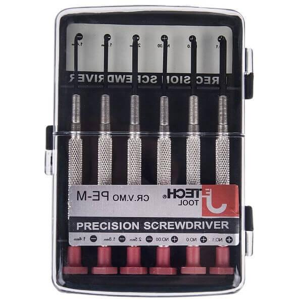 مجموعه 6 عددی پیچ گوشتی ساعتی جی تک تول مدل PE-M 052200
