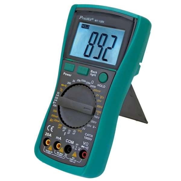 مولتی متر دیجیتال پروسکیت مدل MT-1280