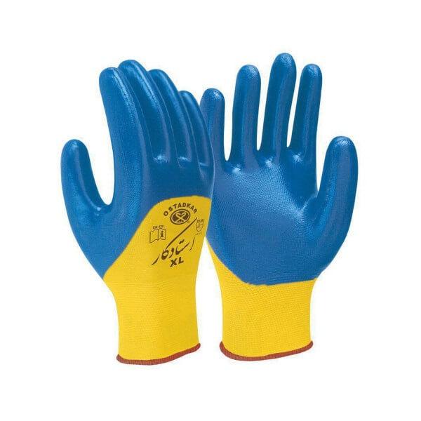 دستکش صنعتی استاد کار مدل نیتریل