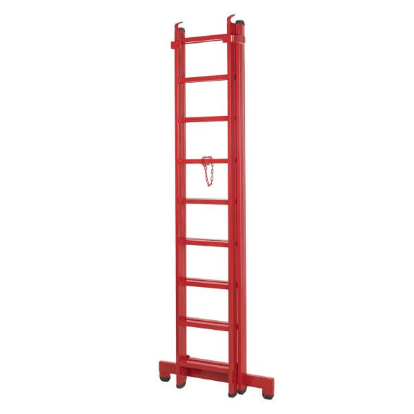 نردبان 18 پله قائم مدل 4 متری به همراه پایه تعادل